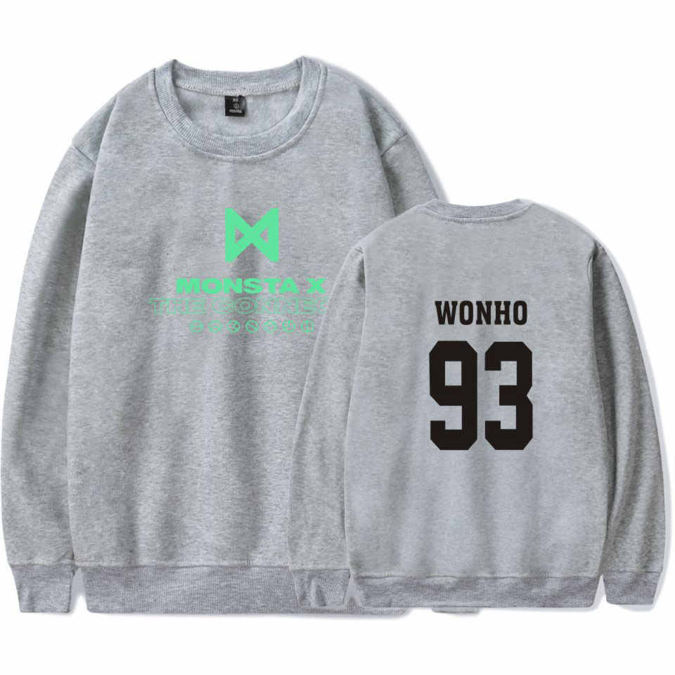LUCKYFRIDAYF 2018 K-pop Korea MONSTA X Idol Team hit hop Capless oversized hoodies Sweatshirts Women Fans tracksuit Clothes