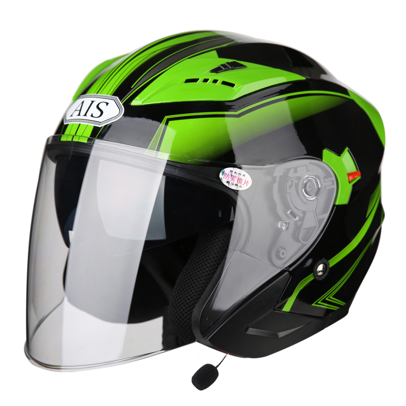 AIS Motorcycle Helmet Equip Bluetooth Full Face Helmet Riding Modular Motocross Flip Up Helmets Capacete Casco ABS DOT