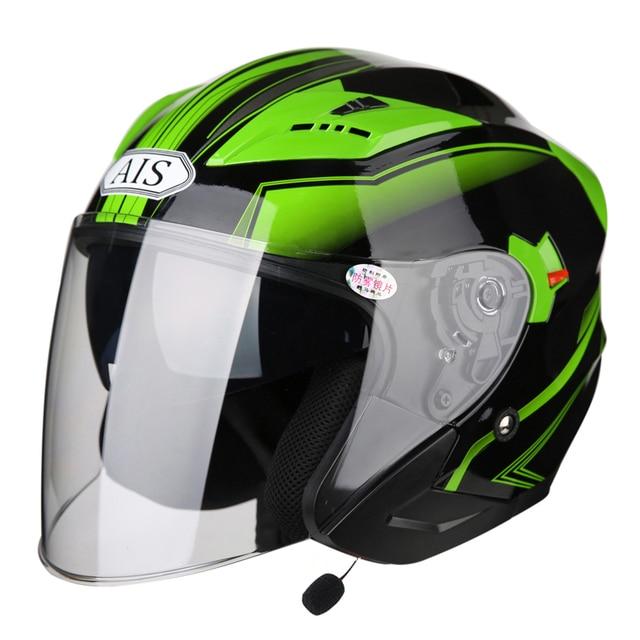 Ais Motorcycle Helmet Equip Bluetooth Full Face Helmet Riding