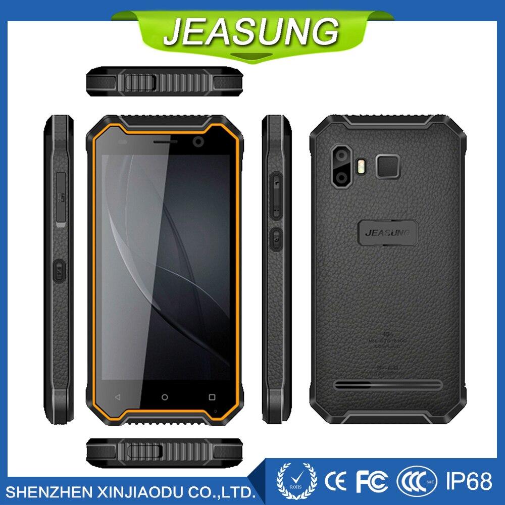 Оптовая продажа jeasung P8 отпечатков пальцев прочный Водонепроницаемый смартфон, 4 ядра MTK6737, Android 7.0, 2 + 16 ГБ, 5000 мАч Батарея