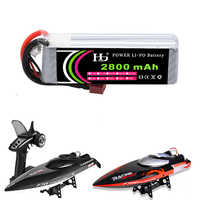 HJ Rc Lipo Battery 14.8V 2800mAh 30C 4S Lipo Battery With T/ XT60 Plug for FT010 FT011 Racing Boat / Rc Drone