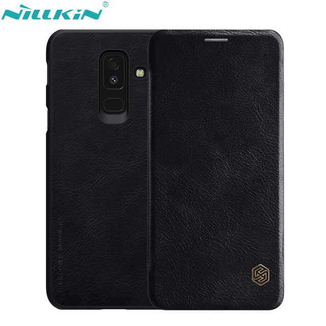 size 40 bcf03 b4142 US $10.89 20% OFF|NILLKIN Retro PU Leather Case for Samsung Galaxy A6 2018  Case A6+ A6 Plus 2018 Cover Hard PC Back Cover Flip Mobile Phone Cases-in  ...