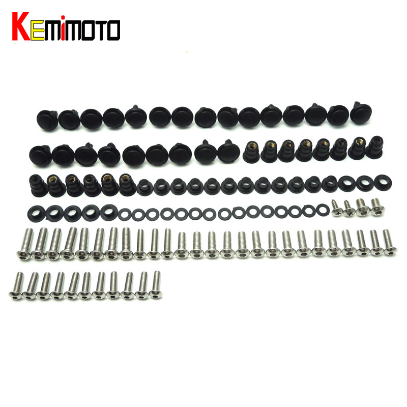 KEMiMOTO Motorcycle Fairing Bolt Screw Fastener Fixation for Honda CBR 1000RR 2006 2007 Complete Kit