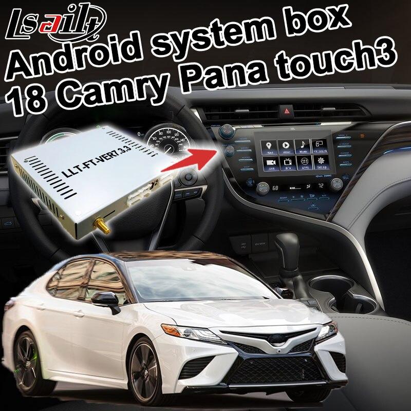 Navigation GPS Android Lsailt pour Toyota Camry Touch 3 boîtier d'interface vidéo modèle Panasonic avec option carplay