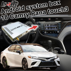 Lsailt Android GPS navigation für Toyota Camry Touch 3 Panasonic modell video interface box mit carplay option