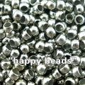 Free Shipping 5000 Silver Tone Smooth Ball Crimps Beads 2mm Dia.(W00093 X 1)