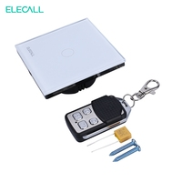 ELECALL EU Standard Intelligent Remote Control Switch 1 Way Wireless Remote Control Wall Switch Touch Light