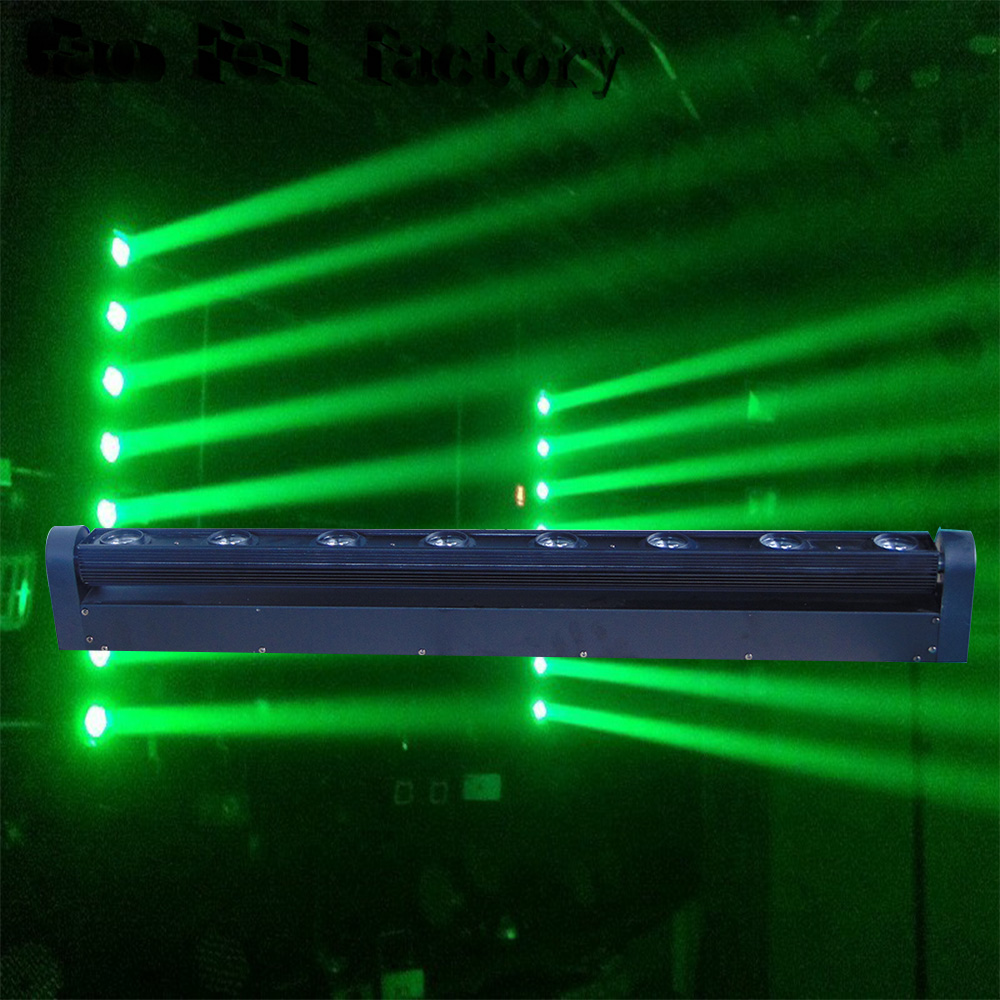 LED Spot Moving Head Stage Light RGBW 8x12W Beam Moving Light Perfect For DJ Party Nightclub