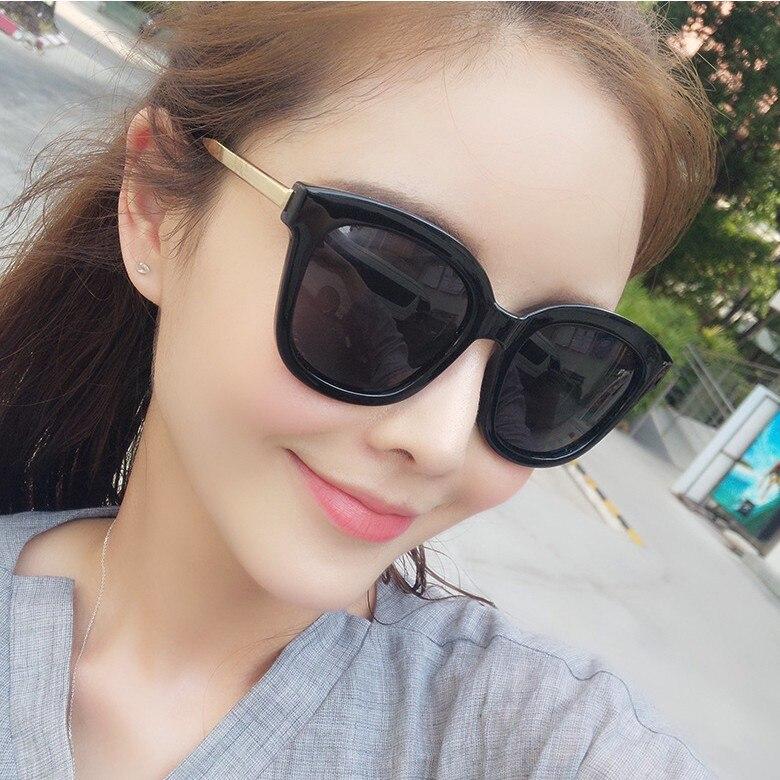 Winszenith 109 2017 nouveau grandes lunettes de soleil Tang Yan avec métal lunettes jambes de la mâle et femelle