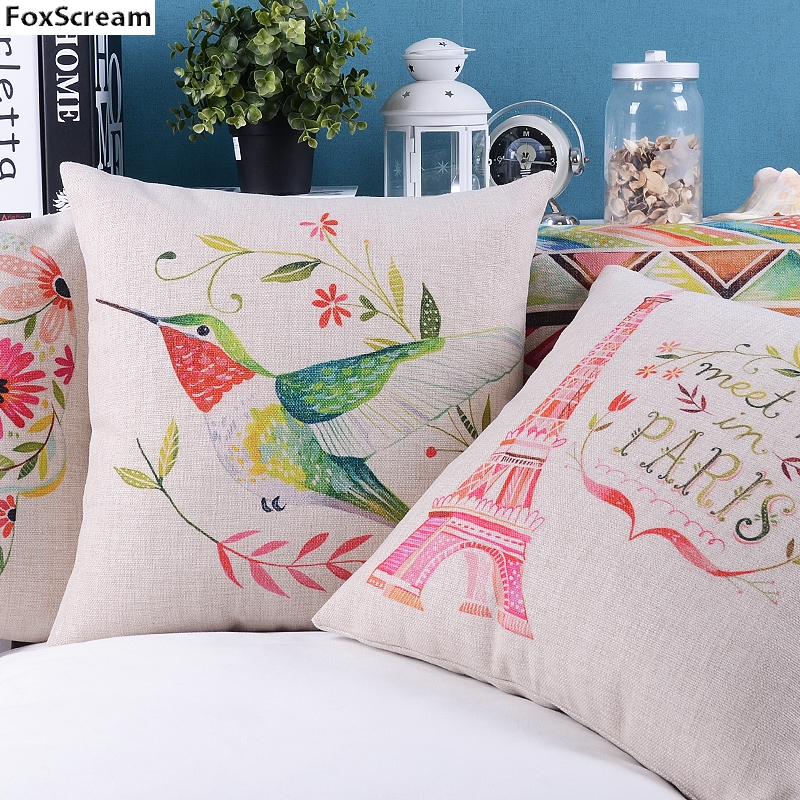decorative bird pillows/ Decorative sofa car Chair cushions/Skull Flowers Throw Pillow Case/Chevron Home Decor Cushion for sofa