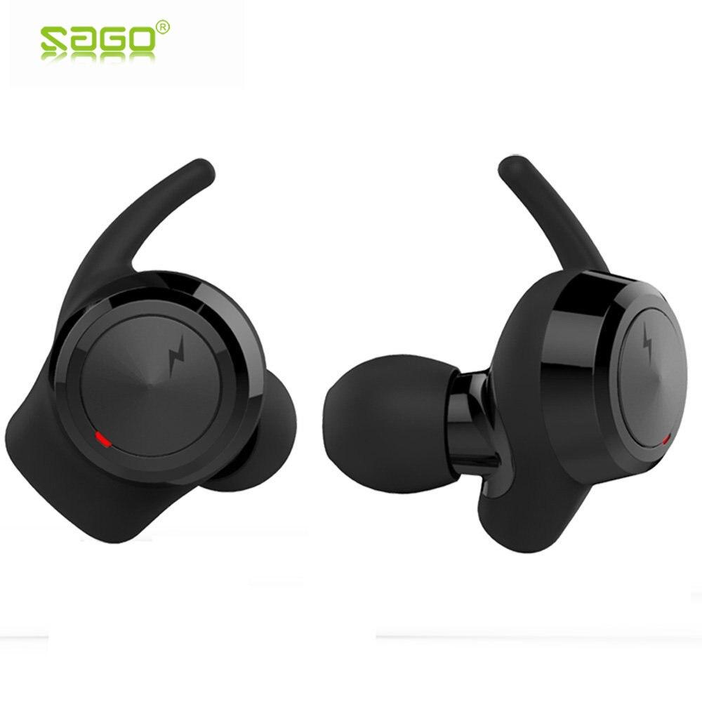 SAGO nos 001 inalámbrica Bluetooth auriculares mini auriculares Sport auriculares en la oreja los auriculares para iphone 8/Samsung/android teléfonos móviles
