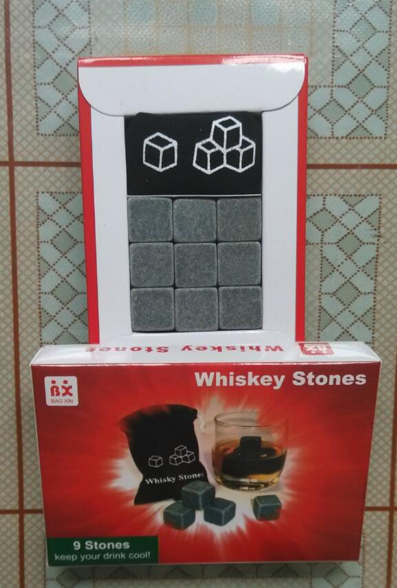 Free Shipping 60 Sets Natural Whisky Stones,9 Whiskey Stones In A Box  Valentine Fatheru0027s Day Gift With Delicate Gift Box In Ice Buckets U0026 Tongs  From Home ...