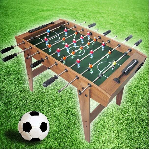 8 Agarre Mesa De Juego De Futbol Woodenn Foostable Futbol Juguete