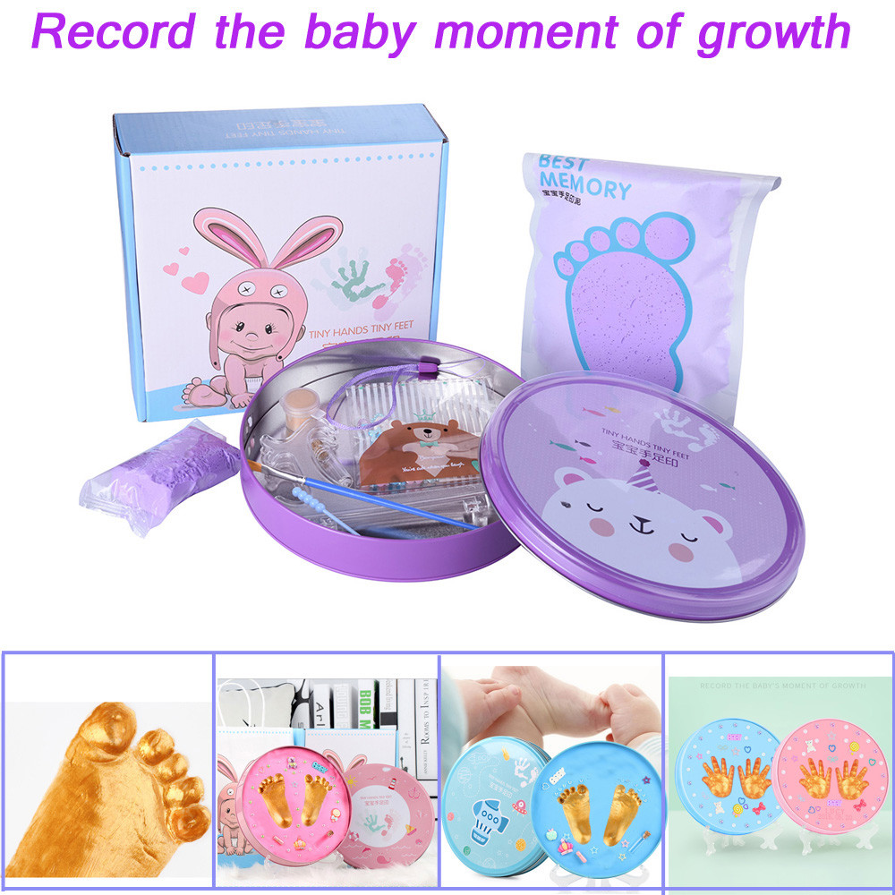 Baby Souvenirs Gift For Kid Baby Hand And Foot Ink Paste Baby Hand Foot Suit Newborn Creative Commemorative Gift Handprint Mud Childreds Toys