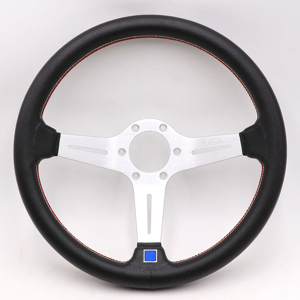14inch Italy ND Lightweight Aluminum Drift Sport Steering Wheel Real leather Steering wheels