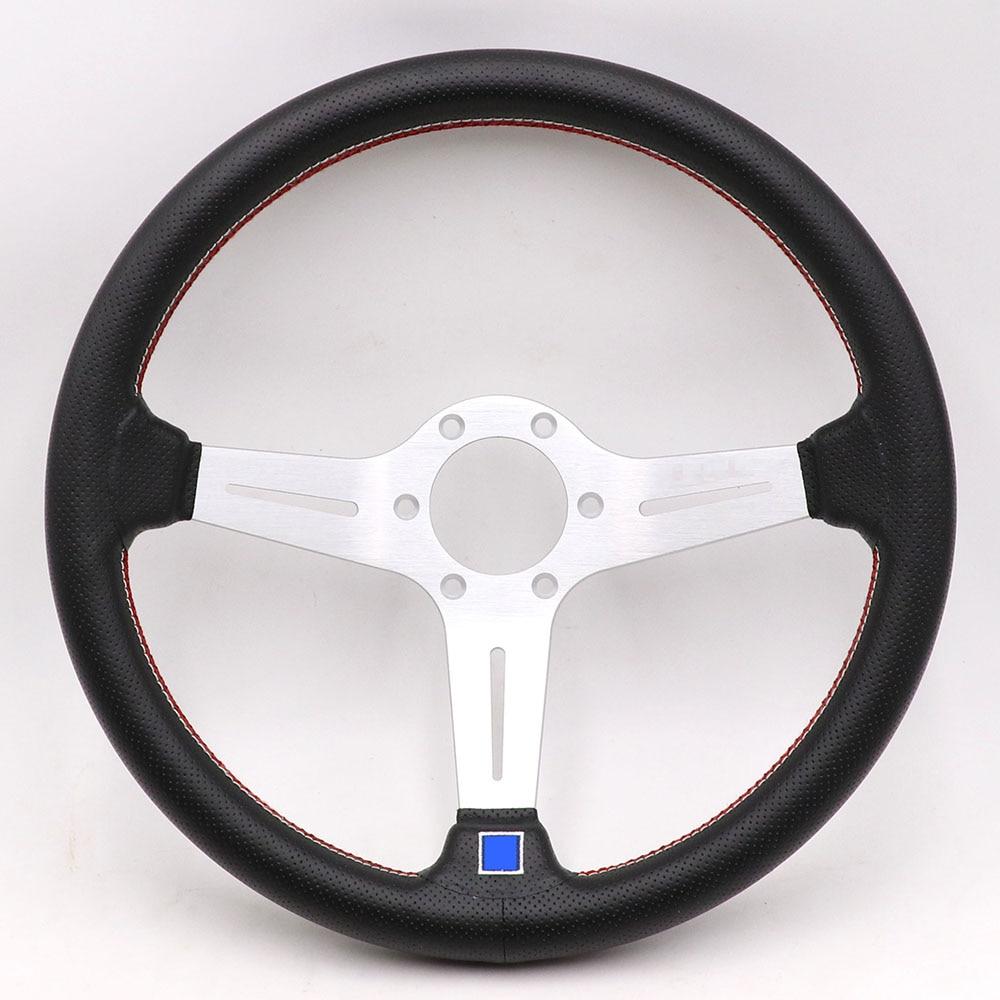 14inch Italy ND Lightweight Aluminum Drift Sport Steering Wheel Real leather Steering wheels