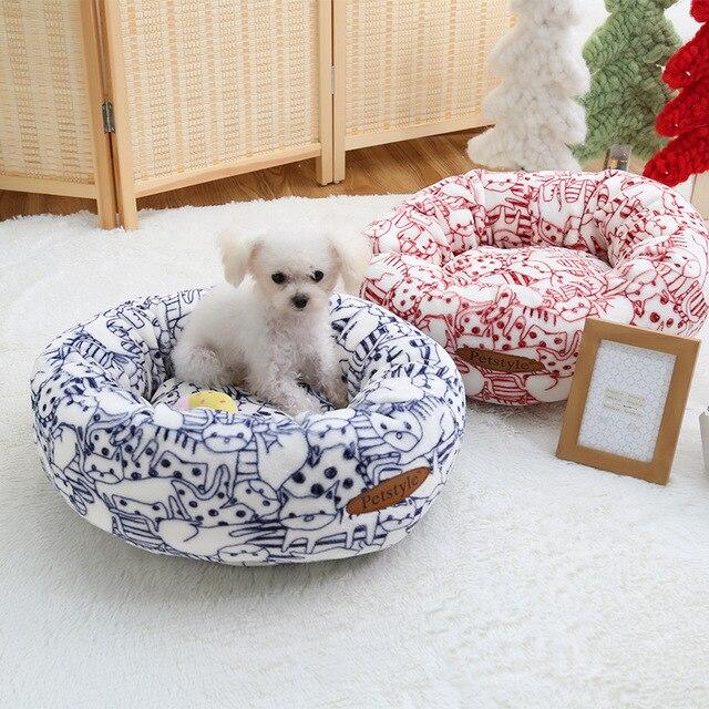 Cute Fox Small Dog Mat Cushion Mattress Soft Sofa Bed House Winter Warm Fleece