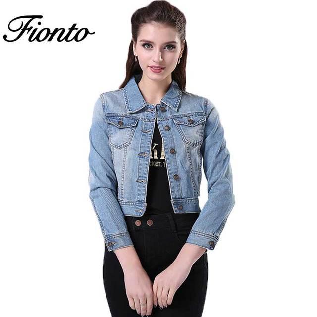 7f9724db8c07 Fionto 1 шт. Весна длинным рукавом Для женщин джинсовая куртка с бахромой  Джинсы для женщин