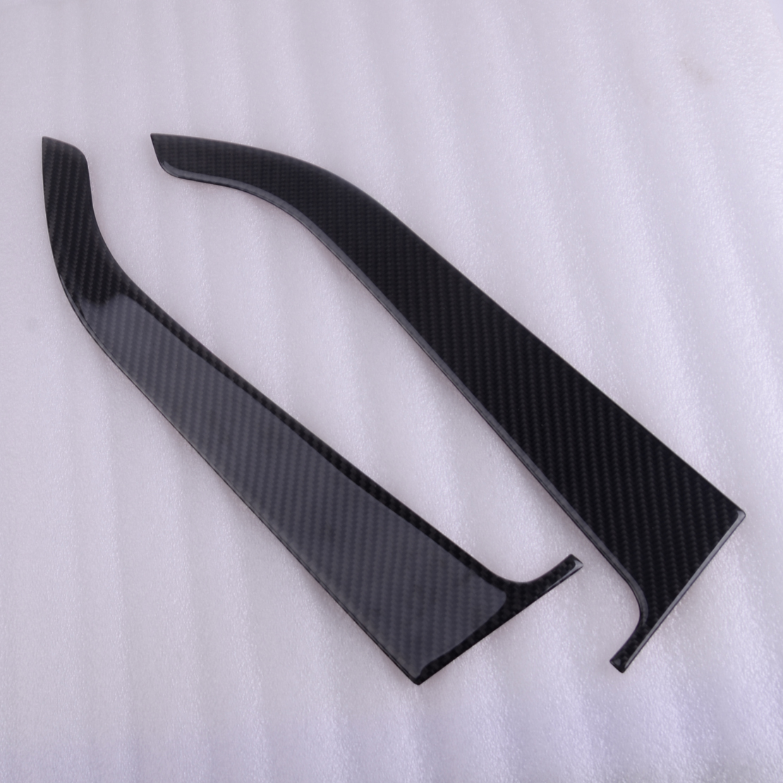 CITALL 2pcs Carbon Fiber Interior Front Armrest Door Handle Panel Cover Trim Styling Fit For Ford