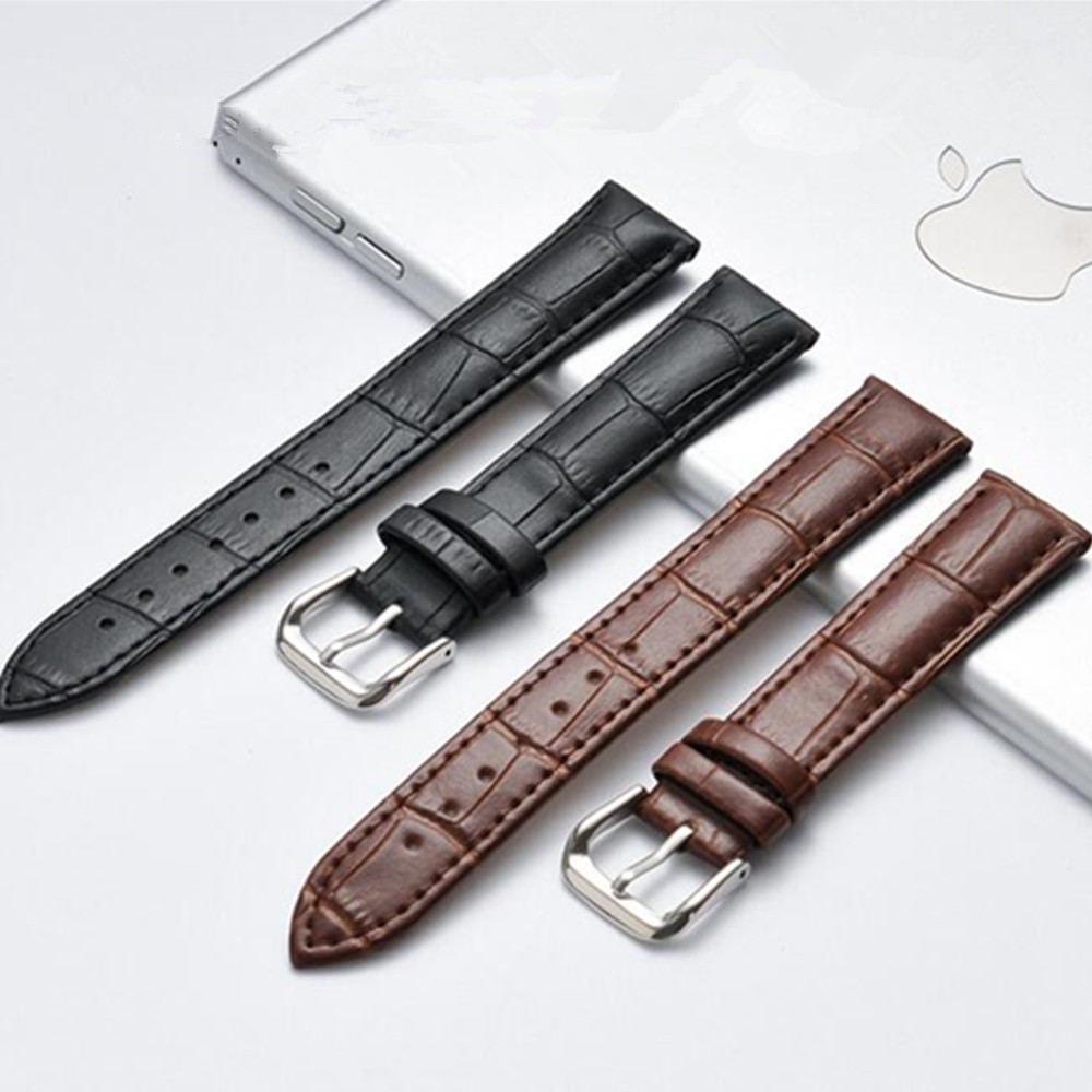 Watch Bracelet Belt Watchbands Genuine Leather Strap Watch Band 12mm 14mm 16mm 18mm 20mm 22mm Watch Accessories Wristband + Tool