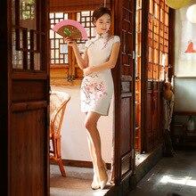 มาใหม่แฟชั่นแผนจีนชุดผู้หญิงผ้าไหมCheongsam QipaoมินิVestidoเดเฟสต้าขนาดSml XL XXL Z20160322