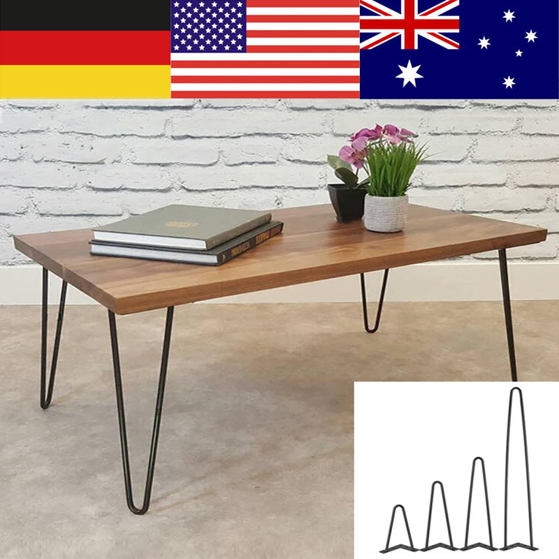TOPINCN 4Pcs Iron Metal Desk Home Accessories For DIY Table