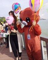 Лидер продаж rilakkuma Медведь Мультфильм костюмы талисман Косплэй карнавал вечерние фильма животных комбинезон производительность