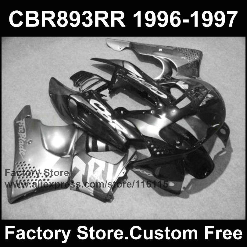 Custom factory fairing kit for HONDA 1996 1997 CBR900RR CBR 893RR 96 97  gun gray motorcycle CBR 893 fairings new original lenovo thinkpad t510 t510i w510 palmrest keyboard bezel cover with touchpad 60y5504 75y4564