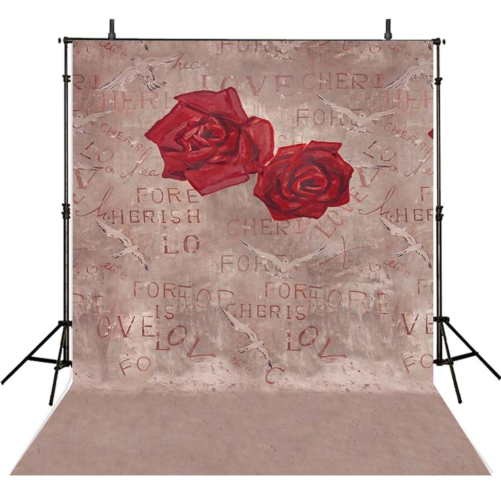 200*300 cm fond imprimé numérique pour Studio Photo deux fleurs roses fond de vinyle mur solide pour la photographie Fotografia