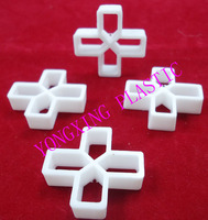 200pcs Bag 10mm With Handle Plastic Cross Tice Spacer Tracker Locating Ceramic Cross White Color Locate