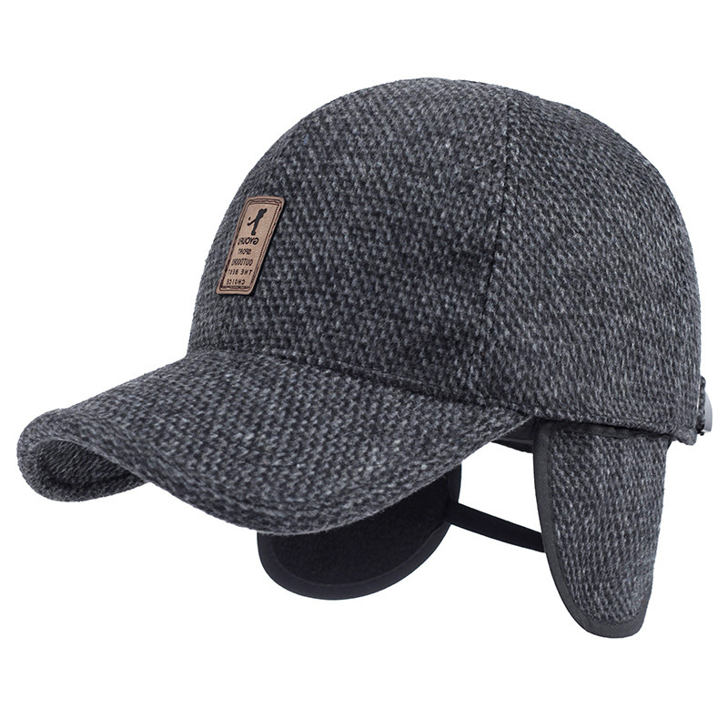 NORTHWOOD  2018 Winter Baseball Cap Men Branded Winter Snapback Hat with Earflap  Warm Trucker Cap Bone Casquette Homme-in Baseball Caps from Apparel ... 4a8a04b870da