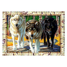 Wolves diamond Embroidery diy painting mosaic diamant 3d cross stitch picture H624