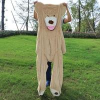 200cm New Teddy bear skin Giant Luxury Plush Extra Large Teddy Bear cost Light Brown
