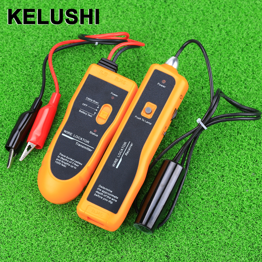 цены KELUSHI NF-816 New Underground Wire Locator Wire tracker With LED for electrical wire, CATV coax, telephone drops