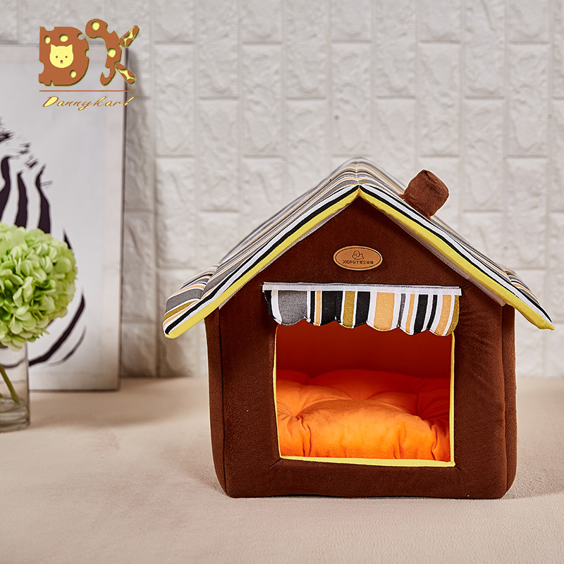 Pet House Striped Removable Cover Mat One Size 35x30cm Pet Products House Pet Beds for Cat House Dog Beds For Small Medium Dogs in Houses Kennels Pens from Home Garden