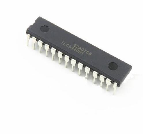 1pcs/lots TLC5940NT  TLC5940  DIP 28 New original  IC LED driver chip-in Integrated Circuits from Electronic Components & Supplies