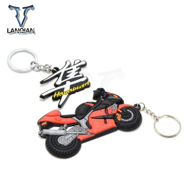 Motorcycle Model Keychain Keyring Key Chain Key Ring Holder soft Rubber for Suzuki Hayabusa