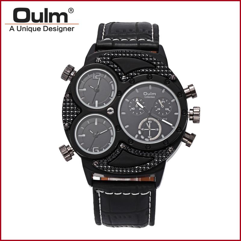 2016 년 새로 디자인 된 oulm 시계, oulm 아날로그 쿼츠 - 남성 시계