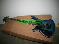 Custom Blue 5 Strings 4003 Left Handed Electric Bass Wholesale Musical instruments