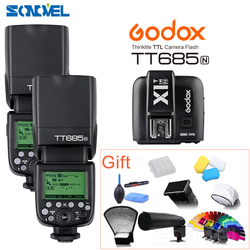 2pcs Godox TT685N 2.4G HSS 1/8000s i-TTL GN60 Wireless Flash + X1T-N TTL Trigger for Nikon D800 D700 D7100 D7000 D5100 D810 D90