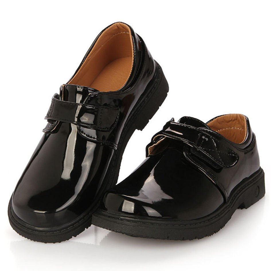Patent PU Boys Dress Shoes For Party Kids Boy Black School ...