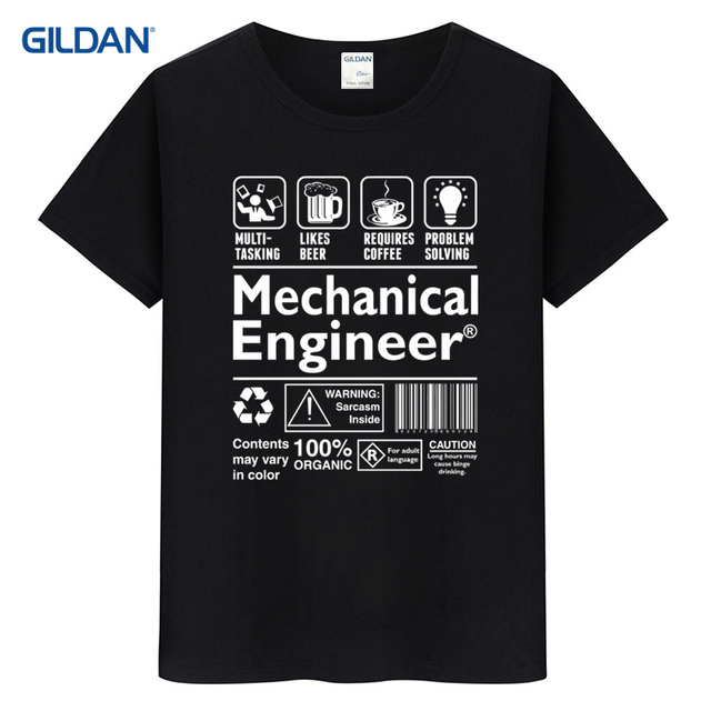 Coton Tee Shirt Online 2017 New Style Mechanical Engineer ...