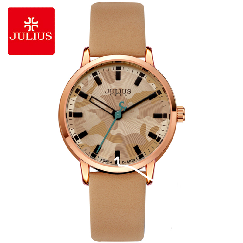 Julius New Retro Military Camouflage Leather Womens Watch Casual Waterproof Quartz Dress Wriatwatches Female Clock Reloj MujerJulius New Retro Military Camouflage Leather Womens Watch Casual Waterproof Quartz Dress Wriatwatches Female Clock Reloj Mujer
