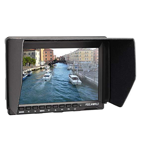 цена на Feelworld FW759 7 inch Ultra HD 1280x800 IPS Screen Camera Field Monitor for BMPCC with 11 Magic Adjustable Arm