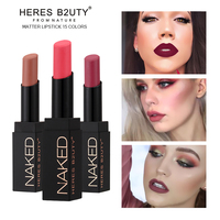 2017 NEW ARRIVAL Limited hotsale Brand HERES B2UTY Matte Lipstick Nude Lipstick Waterproof Long lasting Easy wear 15 color