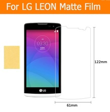 Hot sale 3pcs 1lot anti glare matte screen protector films For LG LEON 4 5 front