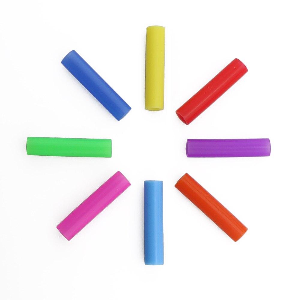 Lot de pailles en silicone amovibles 100%, couvercle de qualité alimentaire, 6mm, en acier inoxydable, 8 couleurs, nouveau