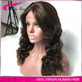 4# Color Glueless Wig Virgin Indian Hair Full Lace Human Hair Wig with Baby Hair Loose Deep Wave Lace Front Wig for Black Women