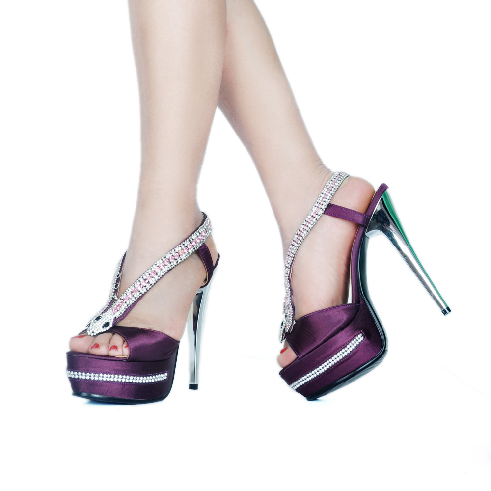 Cm Sandales Hauts forme Serpent Color Haute Strass Toe Showed As Talon Élégant Plate Femmes Cristal Talons Peep Pompes Super 14 Pq6xdwt