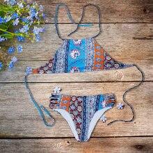 11e837670 2018 Hot Sexy Lace Up Brazilian Bikinis Panties Women Swimwear Beach  Bathing Suit Push Up Hollow